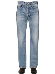 Balenciaga 22Cm Cotton Denim Jeans Blue