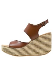 Blowfish District Wedge Sandals Whiskey Dark Brown