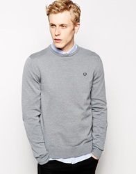 Fred Perry Jumper With Crew Neck Grey