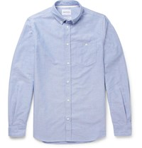Norse Projects Anton Button Down Collar Cotton Oxford Shirt Blue