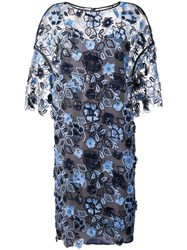 Antonio Marras Floral Embroidered Shift Dress Blue