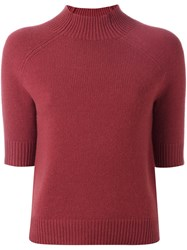 Theory High Neck Shortsleeved Pullover Pink Purple