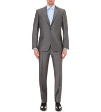 Kilgour Birdseye Pattern Regular Fit Wool Suit Silver