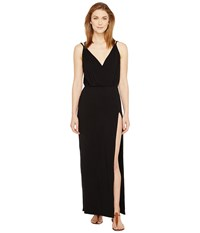 Culture Phit Elea Spaghetti Strap Maxi Dress With Side Slit Black Women's Dress
