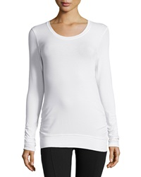 Soybu Passion Knot Back Long Sleeve Tee White