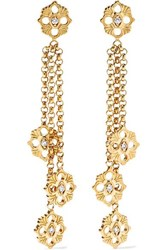 Buccellati Opera 18 Karat Gold Diamond Earrings
