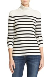 Equipment Women's Wilder Stripe Silk Blend Turtleneck