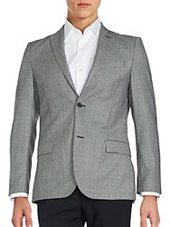 J. Lindeberg Patterned Virgin Wool Sport Coat Black White