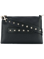 Red Valentino Star Studded Shoulder Bag Women Calf Leather One Size Black
