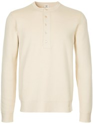 Kent And Curwen Long Sleeved Sweatshirt Cotton Cashmere Xl Nude Neutrals