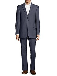 Tommy Hilfiger Notch Lapel Wool Suit Blue