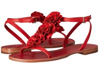 Kate Spade Caryl Maraschino Red Soft Vacchetta Women's Dress Sandals
