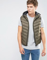 Brave Soul Padded Layering Gillet Jacket Green