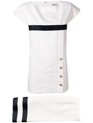 Chanel Vintage 1980'S Blouse And Skirt Set White