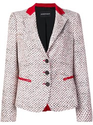 Emporio Armani Patterned Blazer Jacket White
