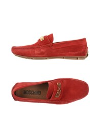 Moschino Footwear Moccasins Men Black