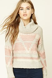 Forever 21 Striped Cowl Neck Sweater
