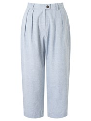 People Tree Loose Fit Trousers Blue