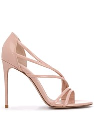 Le Silla Scarlet 120Mm Strappy Sandals Neutrals