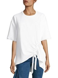 Marques Almeida Side Tie Jersey Tee White
