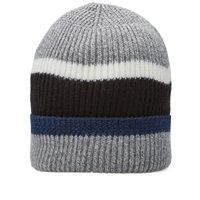 Nanamica Stripe Beanie Heather Grey