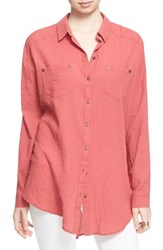 Women's Free People 'Love Her Madly' Puckered Top Smokey Rose