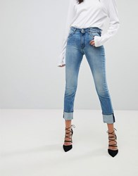 Replay Easy Stretch High Rise Slim Leg Jean Lightwash Blue