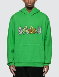 Brain Dead Embroidered Graffiti Hoody Green