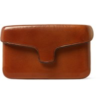Il Bussetto Polished Leather Cardholder Brown