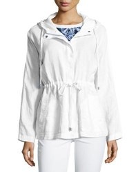 Tommy Bahama Two Palms Hooded Linen Jacket White