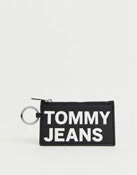 Tommy Jeans Coin Purse With Mono Logo Black