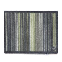Hug Rug Contemporary Collection Stripe 77 Door Mat Green