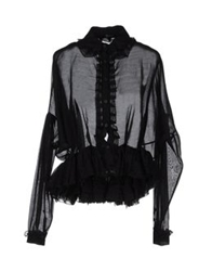 Meadham Kirchhoff Long Sleeve Shirts Black