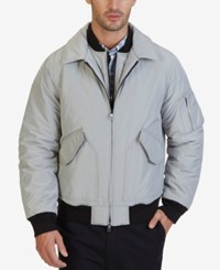 Nautica Men's Military Bomber Jacket Seashore Grey