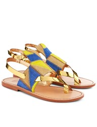 Sanchita Multi Pony Patchwork Upa Sandals Print