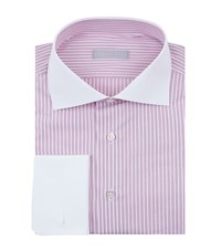 Stefano Ricci Striped Contrast Collar And Cuffs Shirt Male
