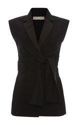 Emilio Pucci Tailored Tie Vest Black