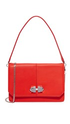 Carven Leather Cross Body Bag Rouge