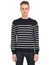 Paul And Shark 'Admiral's' Striped Wool Sweater White Navy
