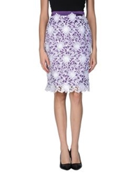 Ivan Montesi Knee Length Skirts Purple