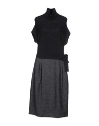 Fabrizio Lenzi Dresses Knee Length Dresses Women Steel Grey