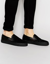 Religion Collins Slip On Trainers In Black Black