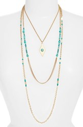 Treasure And Bond 'S Multistrand Necklace Turquoise Gold
