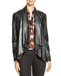 Kut From The Kloth Levi Draped Faux Leather Jacket Black