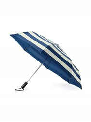 Kate Spade Off We Go Jubilee Stripe Travel Umbrella Navy