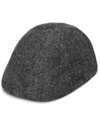 Levi's Men's Herringbone Flat Top Cap Charcoal