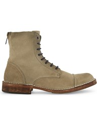 Diesel D Pit Suede Boots Hedge Green