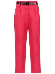 Martha Medeiros Cropped Trousers Pink And Purple