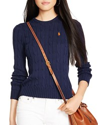 Polo Ralph Lauren Cable Knit Cotton Sweater Hunter Navy