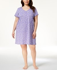 Charter Club Plus Size Picot Trim Cotton Sleepshirt Created For Macy's Flutterby